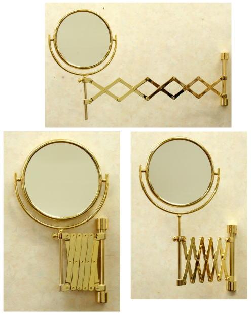 スペイン製拡大鏡 ホテルミラーWi148ゴールド3倍率