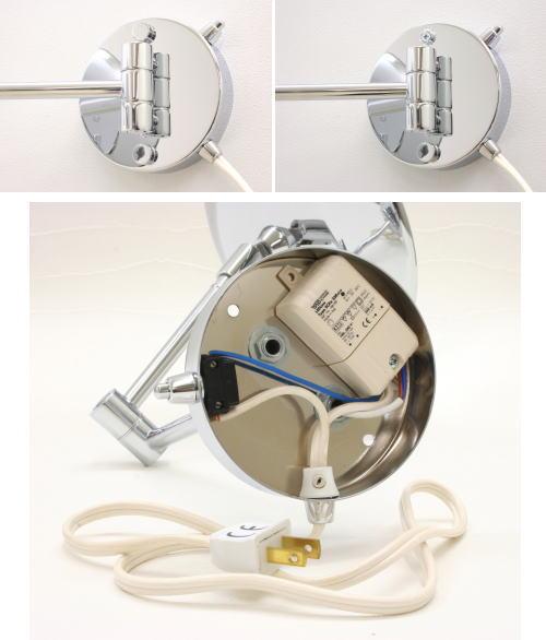 照明付拡大鏡 アームミラーWi650クローム3倍率